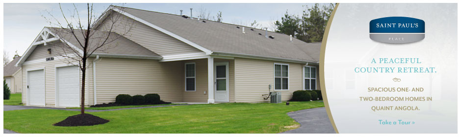 A comfortable quiet senior community located in Angola, NY